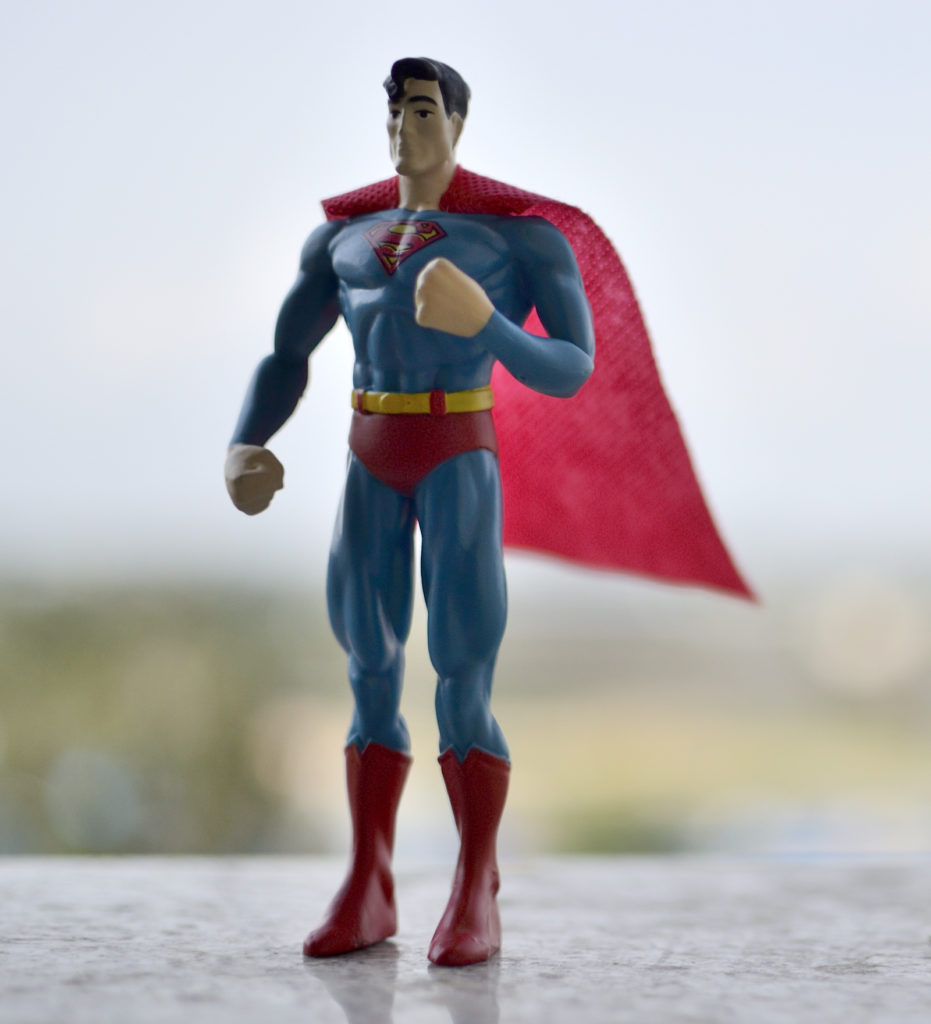 Bendable Superman Figure - Toy Photography