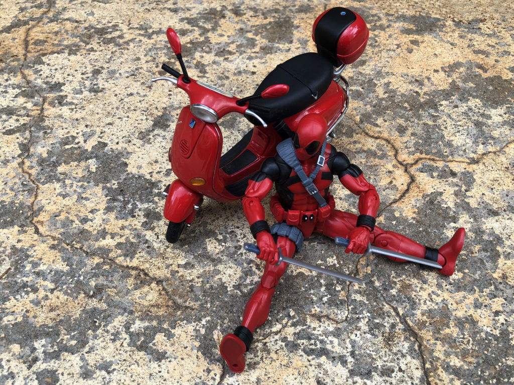 Marvel Legends Deadpool and Red Vespa  - Toy Photography