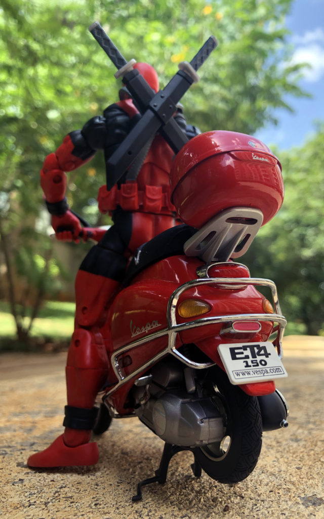 Marvel Legends Deadpool Riding Vespa - Toy Photography