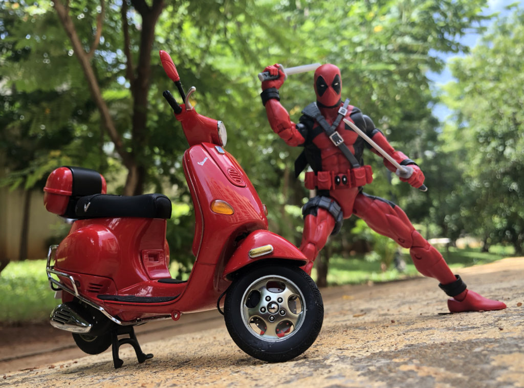 Marvel Legends Deadpool's Red Vespa - Toy Photography