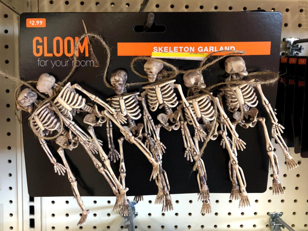 Mini Halloween Skeleton Garland
