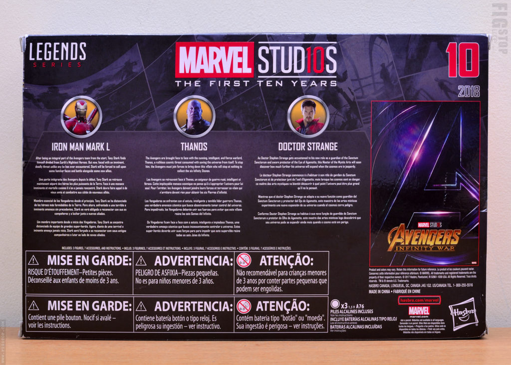 Marvel Studios First Ten Years - Iron Man, Thanos and Dr Strange