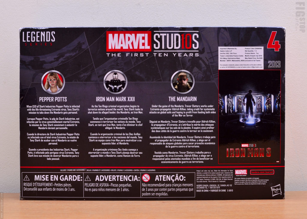Marvel Studios First Ten Years - Pepper Potts, Iron Man Mark XXII and Mandarin