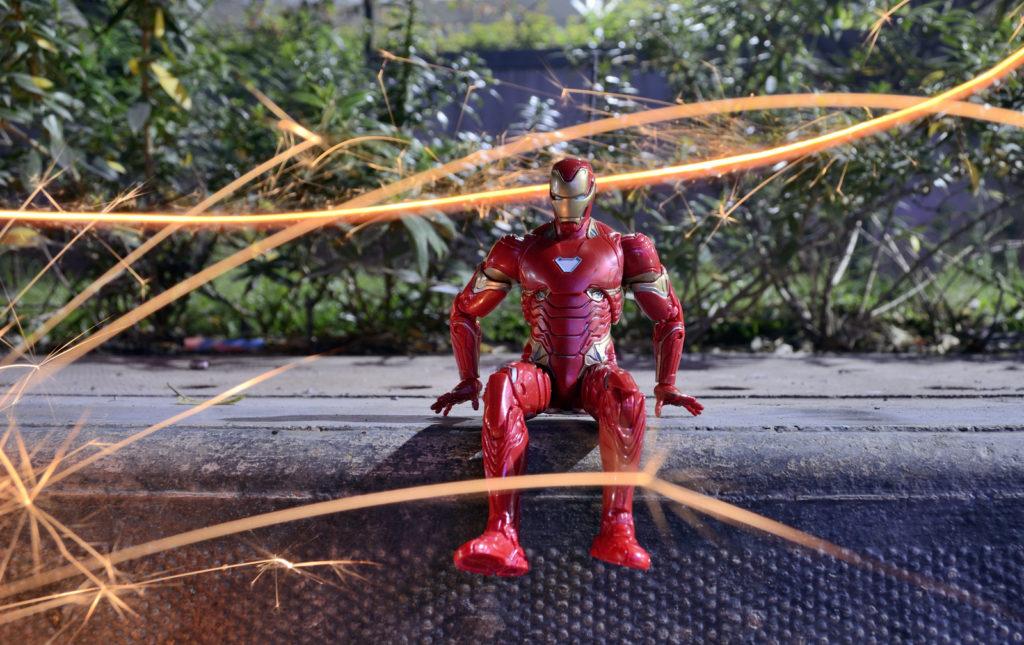Diwali Light Painting - Iron Man Figure