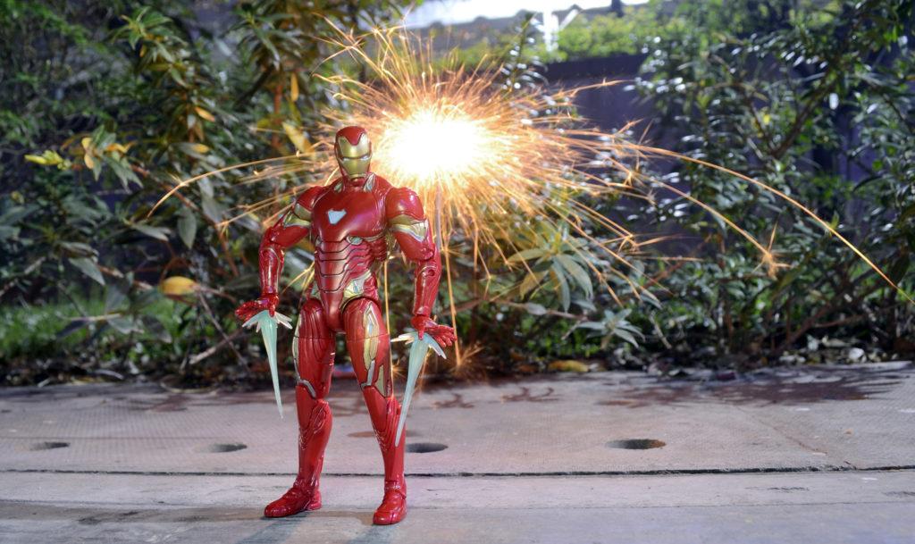 Diwali Fireworks - Iron Man Figure