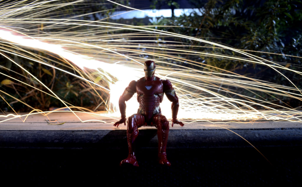 Diwali Light Painting - Iron Man Figure