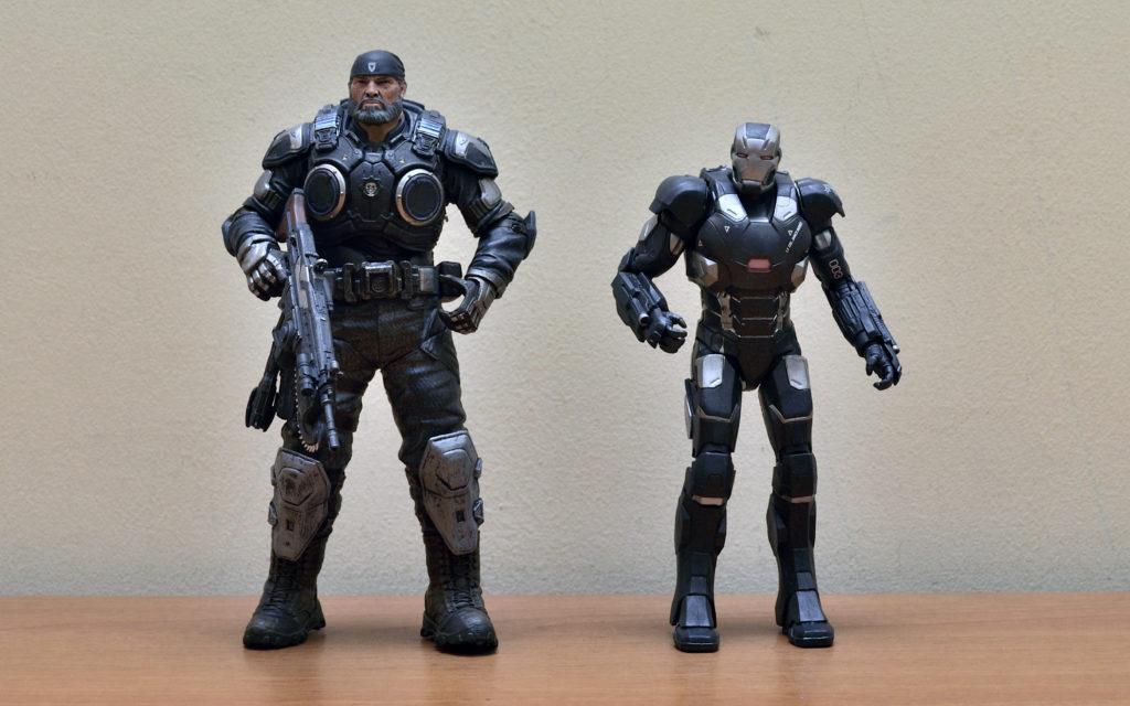 Gears of War-4 Marcus Fenix - Size Comparison