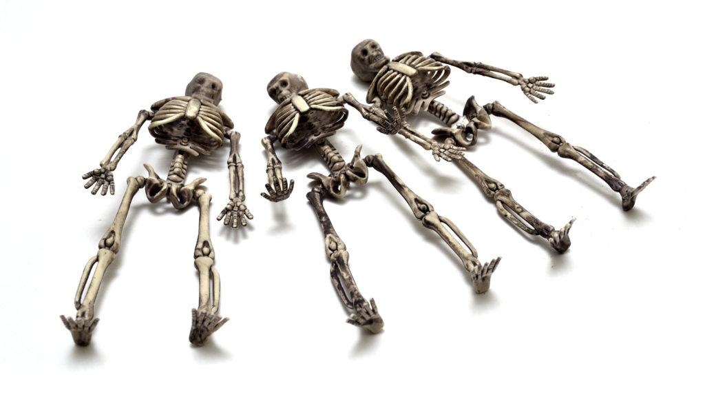 Skeleton Figures - Sleeping