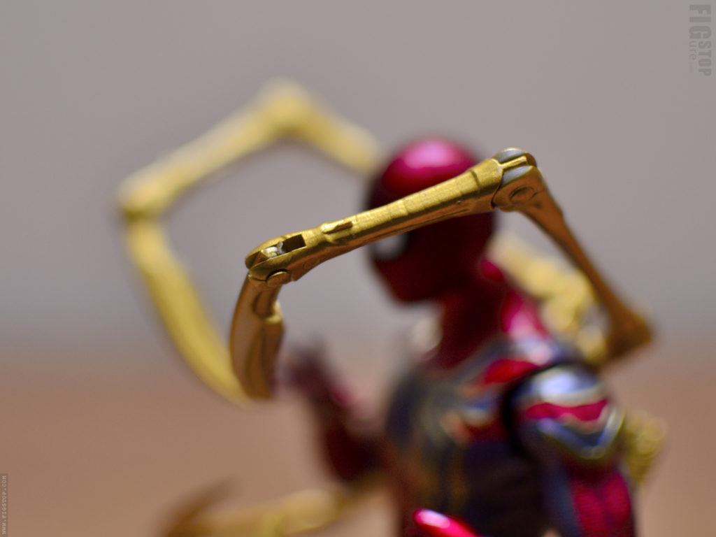 Chinese Iron Spider Action Figure Mechanical Arms - Paint Flaw
