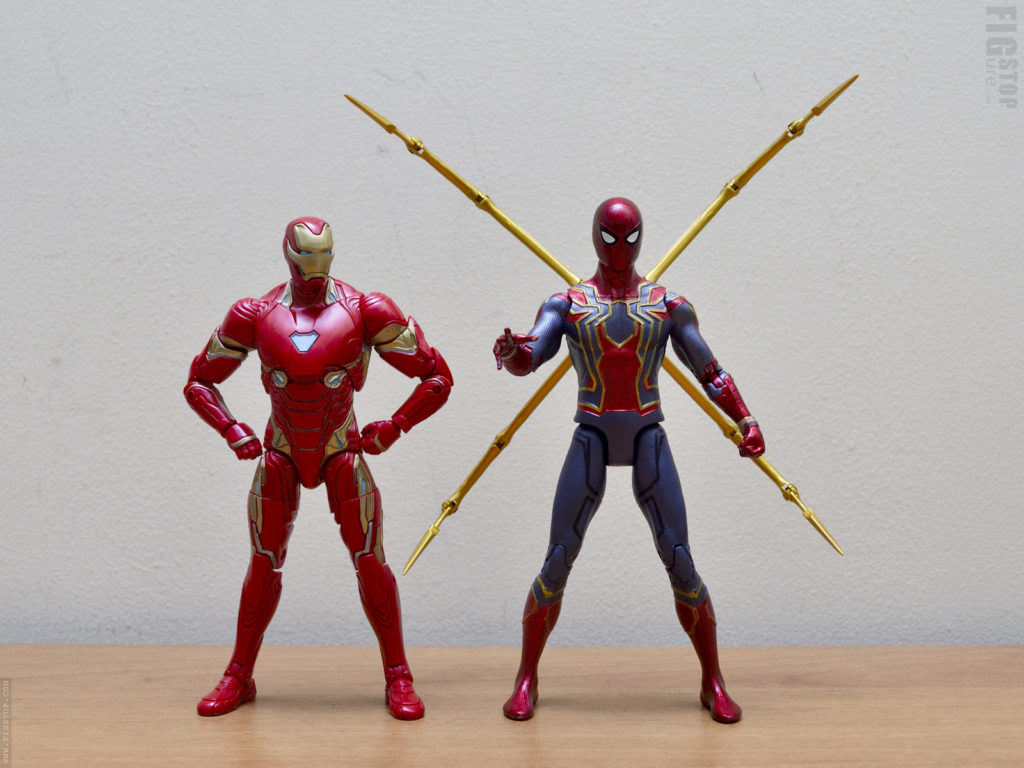 Chinese Iron Spider vs Marvel Legends Iron Man Mk50