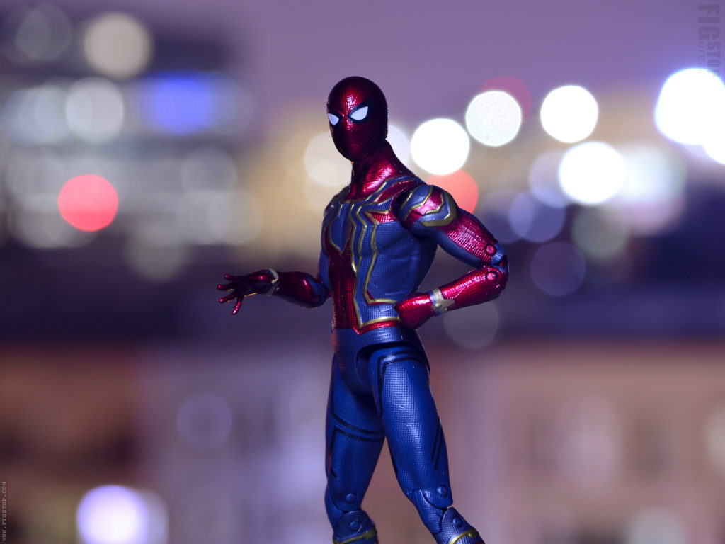 Iron Spider Night Out Toy Photography