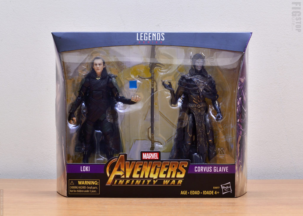 Avengers: Infinity War Corvius Glaive & Loki - Two Pack
