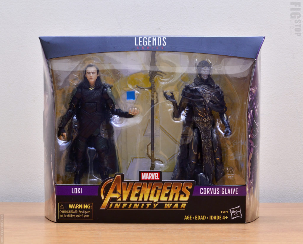 Avengers: Infinity War Corvus Glaive and Loki - Two Pack