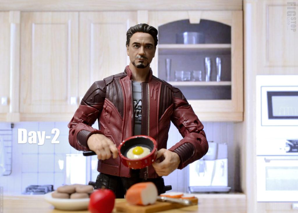 Tony Stark - Cooks Breakfast