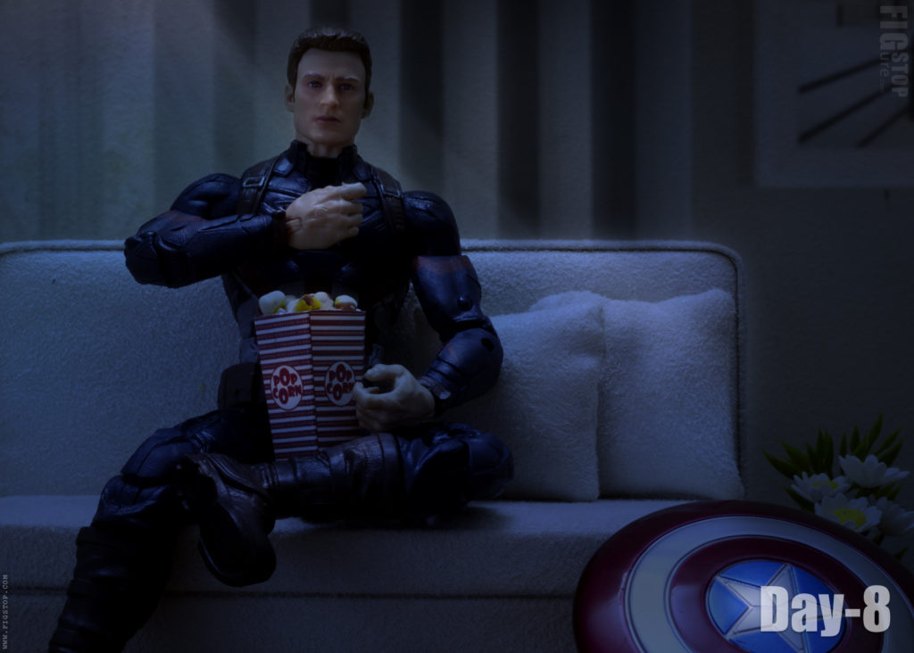 Captain America Watching Movie at Home - Day 8